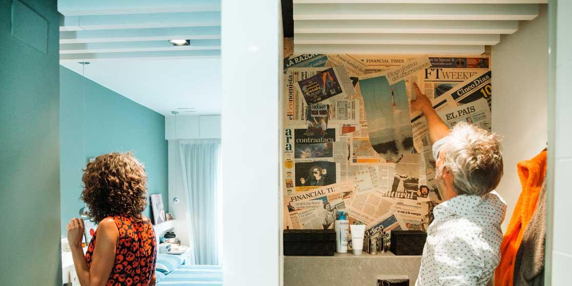 Interiorista Barcelona proyectos reformas viviendas lavabo suite