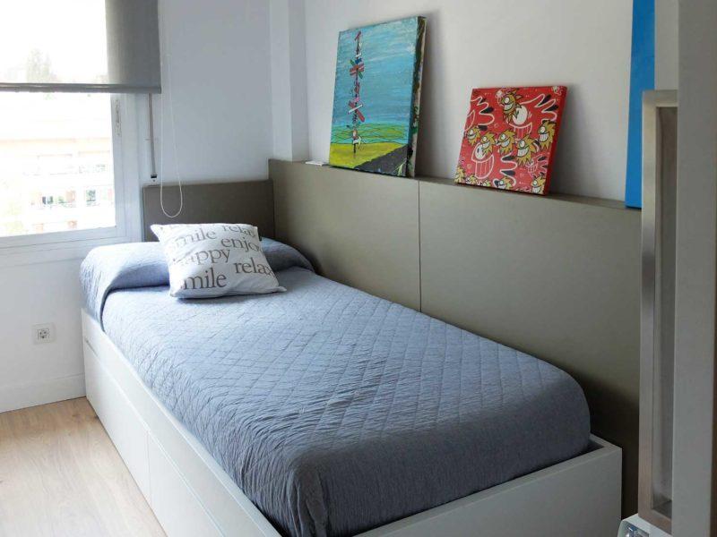 Interiorista Barcelona proyectos reformas viviendas habitacion pez